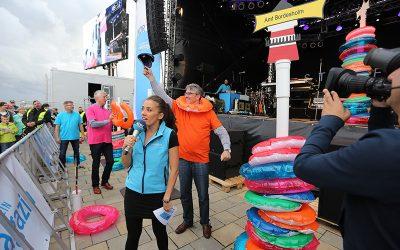 Das Amt Bordesholm gewinnt die Bürgermeisterwette der NDR 1 Sommertour in Büsum